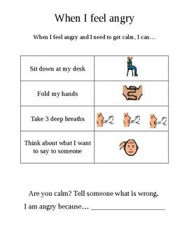 Autism Calm Down Schedule