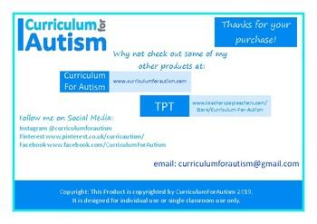 Autism Christmas Countdown Calendar and Sensory Poster