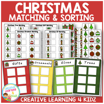 Christmas Matching & Sorting Board Bundle