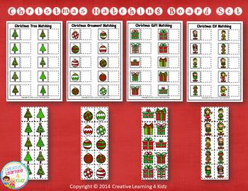 Christmas Matching & Sorting Board Set