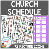 Church Schedule Board w/ Picture Icons Autism Boardmaker PCS