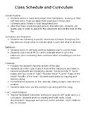 Autism Class Schedule and Curriculum