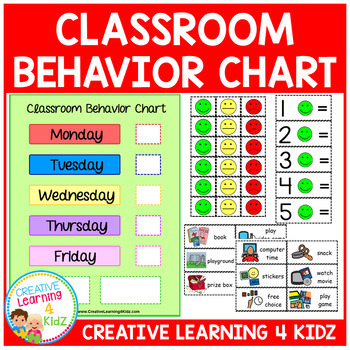 Classroom Behavior Chart Reward Visuals by Creative ...