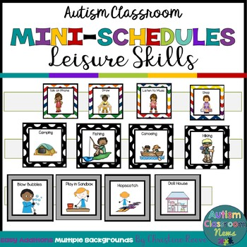 Autism Classroom Leisure Skills Mini-Schedules for Special Education