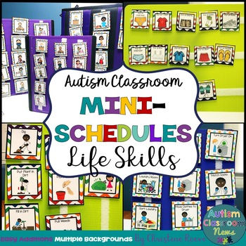 Autism Classroom Life Skills Mini-Schedules for Special Education