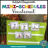 Autism Classroom Vocational Skills Mini-Schedules for Special Education