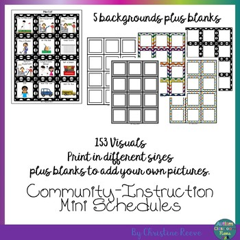 Autism Classroom Community Skills Mini-Schedules for Special Education