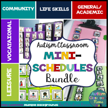 Autism Classroom Mini-Schedules GROWING BUNDLE for Special Education