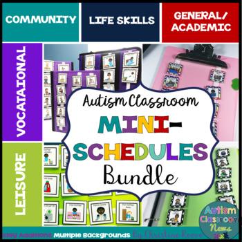Autism Classroom Mini-Schedules BUNDLE for Special Education