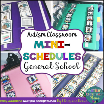 Autism Classroom Mini-Schedules for General School Activities