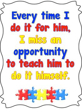 Autism Classroom Quote Poster