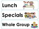 Autism Classroom Schedule