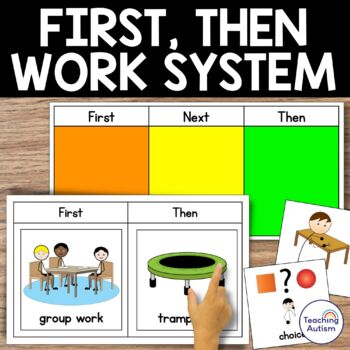 Autism Classroom Visuals, First Then and More Visuals with Communication Symbols