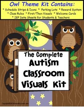 Autism Classroom Visuals Kit - OWL THEME