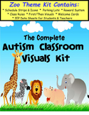 Visual Schedule and Autism Classroom Visuals Kit - ZOO THEME