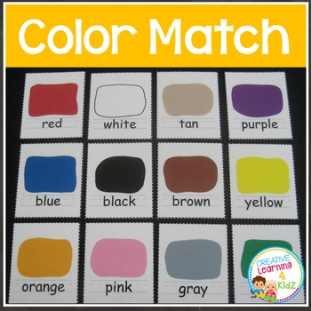 Color Matching Board & Flashcards