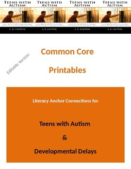 Autism Common Core Literacy Anchor Connections for Teens w/Autism {Editable}