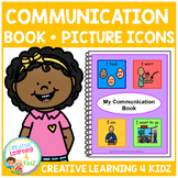 Communication Book w/ Picture Icons Special Education Autism Boardmaker PCS