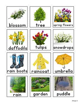 Spring Vocabulary Flashcards for Autism, Pecs