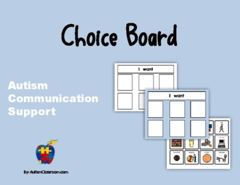 Autism Communication Support - Visual Choice Board