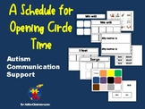 Autism Communication Support Opening (Morning Meeting) Circle Board & Pictures