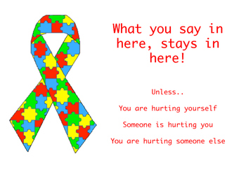 Autism Counselor Confidentiality Sign
