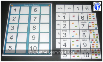 Counting Fish Board Numbers 1-10