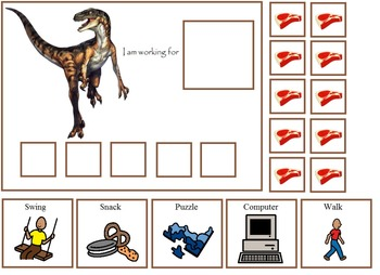 Autism:  Dinosaur Token Boards