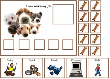 Autism:  Dog and Cat Token Boards