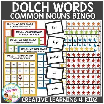 Dolch Words Bingo Common Nouns