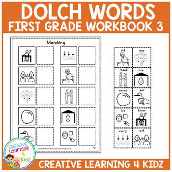 Dolch Words Workbook 3 First Grade