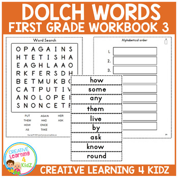 Dolch Words Workbook 3 First Grade