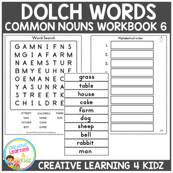 Dolch Words Workbook 6 Common Nouns