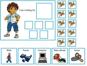 Autism:  Dora and Diego Token Boards