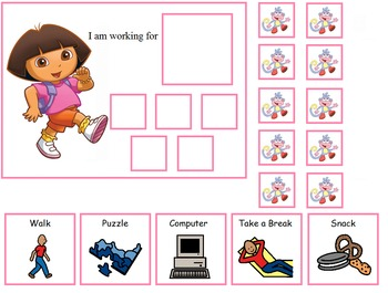 Autism:  Dora and Diego Token Boards
