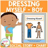 Social Story Dressing Myself (Boy) Book + Chart Autism