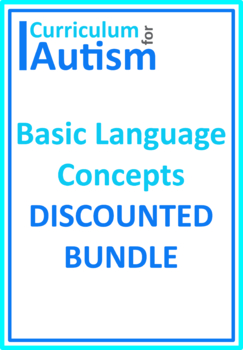 Autism Early Language Basic Concepts BUNDLE, Special Education, Speech