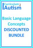 Basic Concepts Early Language BUNDLE Autism Special Education Speech