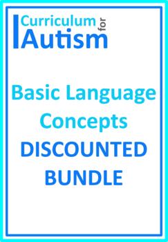 Autism Early Language Concepts BUNDLE, Special Education,