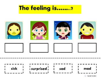 """Autism"" Emotions and Feelings Cut & Paste"