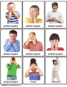 Autism - Build A Sentence with Pictures Interactive- EMOTIONS & FEELINGS w/Data