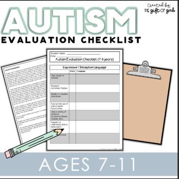 Autism Evaluation Checklist (7-11 Years)