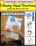 Autism: FOLLOWING VISUAL DIRECTIONS Worksheets for NON-REA