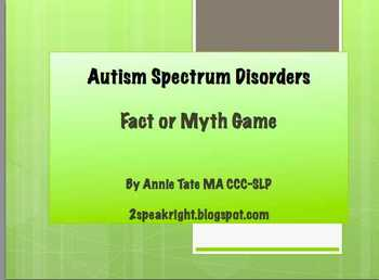 Autism Facts and Myths Quiz