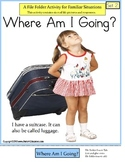 Autism File Folder Activity of Familiar Situations {Where Am I Going?} SET 2
