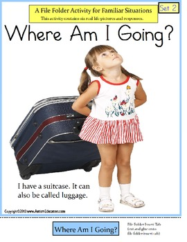 Autism File Folder Activity of Familiar Situations {Where
