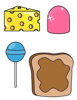 Autism File Folder Game: Food Match