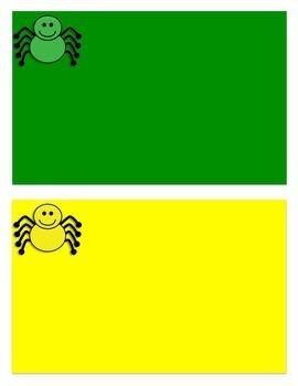 Autism File Folder Game: Spider Sort