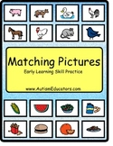 AUTISM  File Folder for Basic Matching Skills