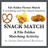 Autism File Folder Picture Match - Snacks